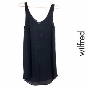 Wilfred black silk tank